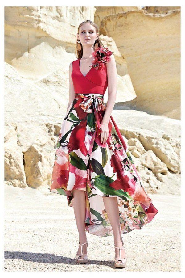 Conjunto de vestido Sonia Peña Estampado Floral