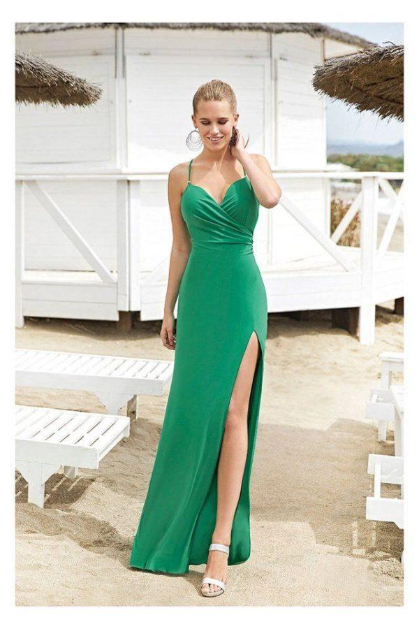 Vestido de fiesta MISS Sonia Peña Largo Verde