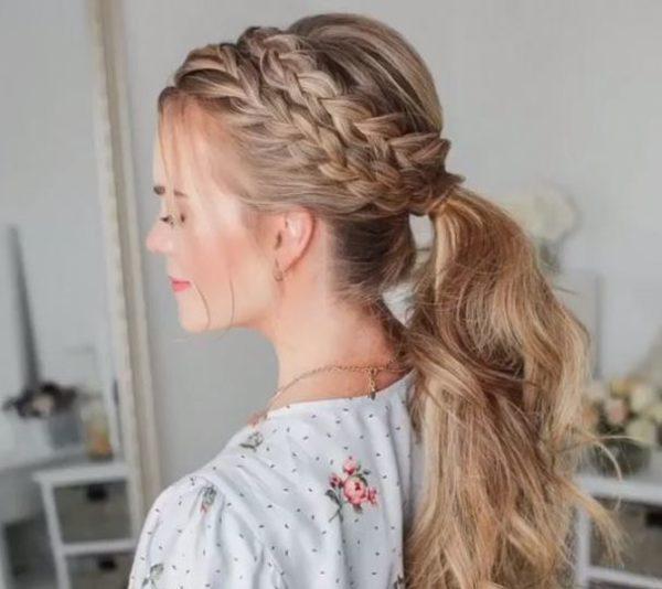 Bonito y cómodo peinados primavera verano 2021 Imagen de tutoriales de color de pelo - + de 50 Peinados con Trenzas Primavera Verano 2021
