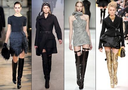Botas altas sobre la rodilla tendencia de moda  2010
