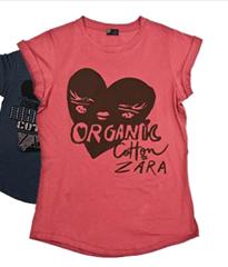 Camisetas para mujer Zara Algodón Orgánico 2