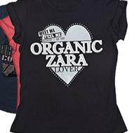 Camisetas para mujer Zara Algodón Orgánico