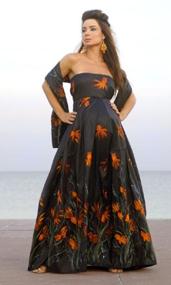 Vestidos de noche elegantes para embarazadas 2