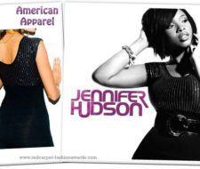 Jennifer Hudson en American Apparel para la portada de su nuevo disco