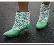 Estilosas botas de plástico reciclado