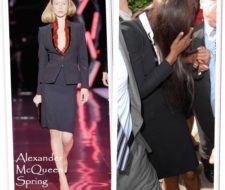 Naomi Campbell en Alexander McQueen Primavera 2008