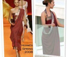 Celine Dion ama la colección Hermès Primavera 2008