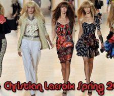 Tendencia moda nueva colección Christian Lacroix primavera verano 2009