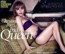 Christina Ricci acaparó portadas de revistas en mayo