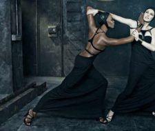 Naomi Campbell y Linda Evangelista para Dsquared2 Primavera 2009