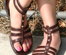 Las sandalias gladiador