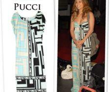 Jennifer Lopez en un vestido de Emilio Pucci