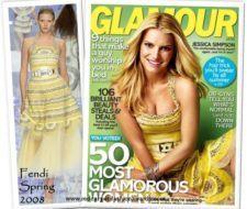 Jessica Simpson en la portada de la revista Glamour