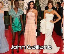 El diseñador de la noche de los Globos de Oro 2009: John Galliano