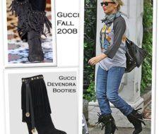 Kylie Minogue y sus botas Devendra de Gucci