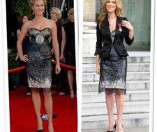 Celine Dion y Rebecca Romijn ¿Quién lleva mejor el vestido de Roberto Cavalli?