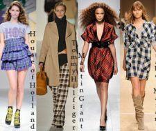 Últimas tendencias de moda otoño invierno 2008 – 2009: las telas a cuadros y las faldas chic