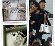 Victoria Beckham con un bolso Hermes Himalayan Birkin