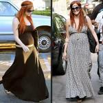 vestidos de fiesta elegantes de famosas embarazadas 7