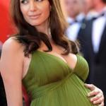 vestidos de fiesta elegantes de famosas embarazadas