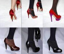 Los zapatos de plataforma regresan para el 2009